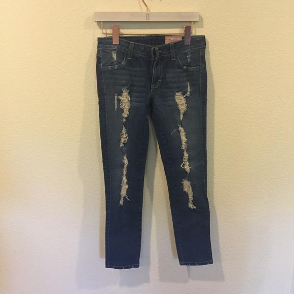 Siwy Denim - Siwy 'hannah' contoured slim crop ripped jeans